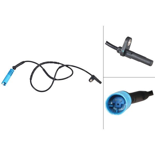 ABS-sensor achterzijde, links of rechts BMW X1 (E84) xDrive 28 i Flex
