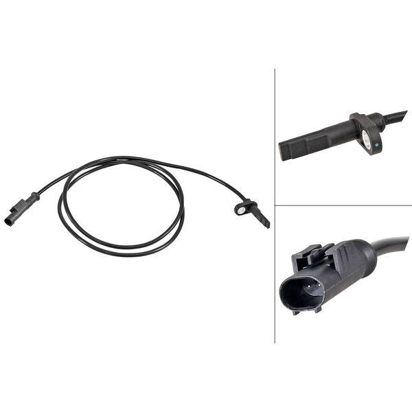 ABS-sensor voorzijde, links of rechts IVECO DAILY VI Open laadbak/ Chassis 35S15, 35C15, 40C15, 50C15, 65C15, 70C15, 72C15