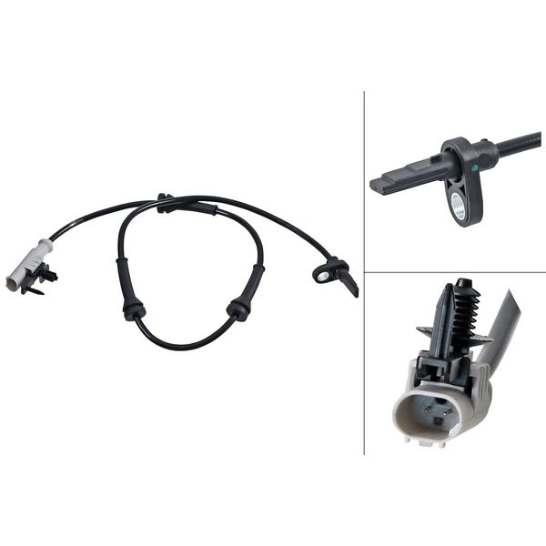 ABS-sensor achterzijde, links of rechts LAND ROVER RANGE ROVER SPORT 2.0 SD4 4x4
