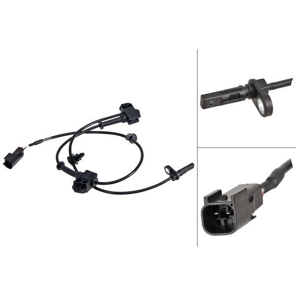 ABS-sensor voorzijde, links of rechts MAZDA 6 Sedan 2.0