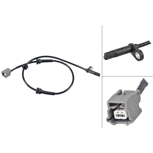ABS-sensor voorzijde, links of rechts NISSAN QASHQAI II Terreinwagen gesloten 2.0 ALL MODE 4x4-i
