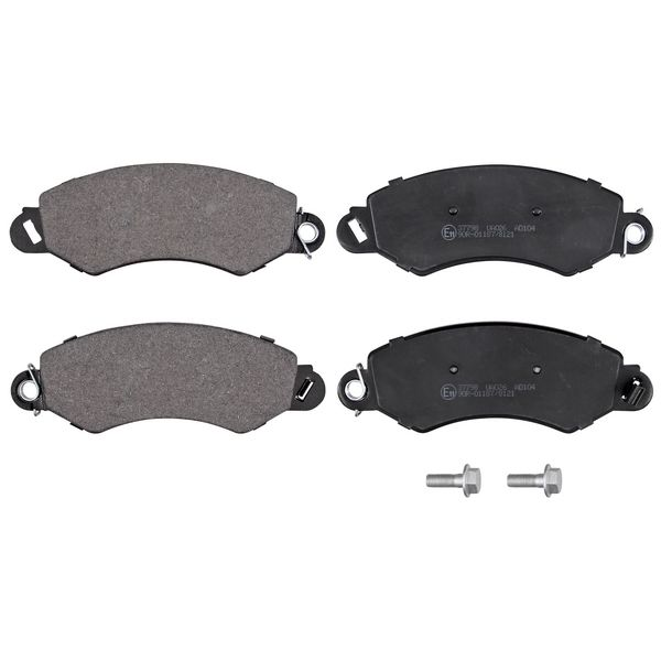 Remblokkenset voorzijde originele kwaliteit LDV MAXUS Open laadbak/ Chassis 2.5 D