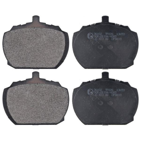 Remblokkenset voorzijde originele kwaliteit LDV SHERPA Open laadbak/ Chassis 1.7