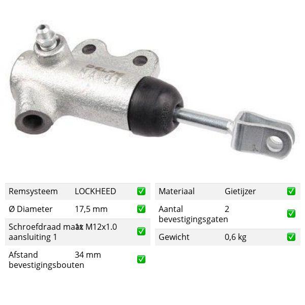Koppelingcilinder - bak voorzijde ROVER 800 820 SE/SI