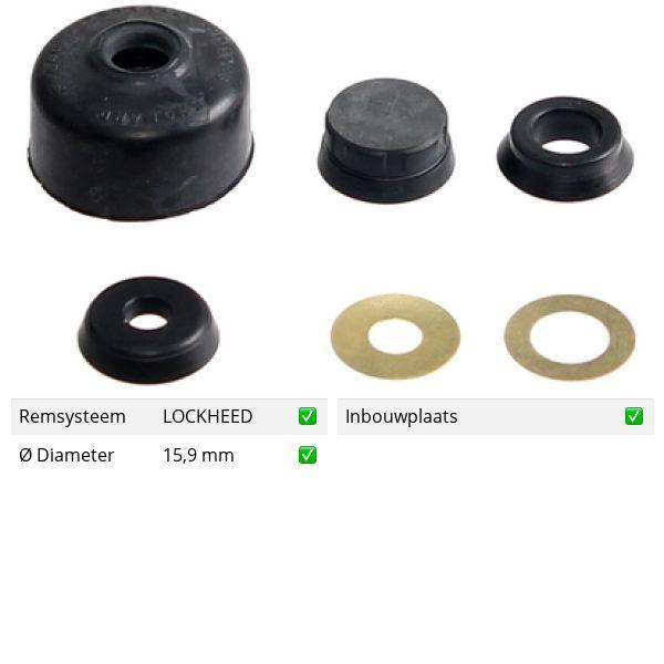 Reparatieset, hoofdcilinder voorzijde SAAB 900 I 2.1 -16