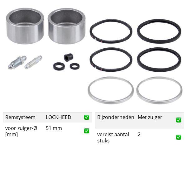 Reparatieset, remklauw voorzijde, links of rechts ROVER MINI-MOKE 1.0